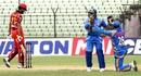 CCS wicketkeeper Ashrafun Nabi celebrates the dismissal of Irfan Sukkur with a team-mate, Kalabagan Cricket Academy v Cricket Coaching School, DPL 2016, Fatullah, June 1, 2016
