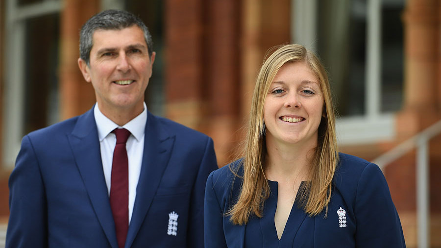 Mark Robinson alongside Heather Knight at Lord's