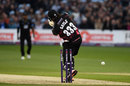 Chris Gayle missed with a swipe across the line, Sussex v Somerset, NatWest T20 Blast, South Group, Hover, June 1, 2016