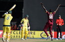 Jason Holder successfully appeals for Aaron Finch's wicket, West Indies v Australia, ODI tri-series, 2nd match, Providence, June 5, 2016