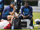 Graham Ford and Angelo Mathews take some time out, Lord's, June 7, 2016