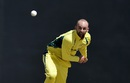 Nathan Lyon sends one down, Australia v South Africa, 3rd match, ODI tri-series, Providence, June 7, 2016