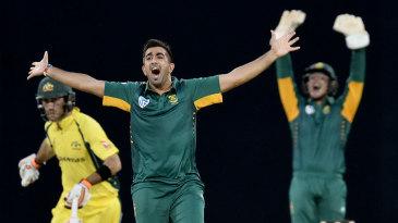 Tabraiz Shamsi struck early on his debut