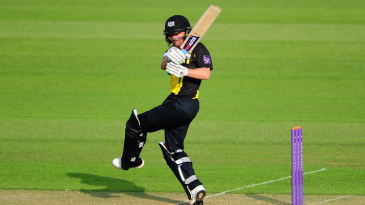 Hamish Marshall on the attack for Gloucestershire