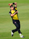 Benny Howell bowls, Somerset v Gloucestershire, Royal London One-Day Cup, Taunton, June 5, 2016