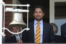Kumar Sangakkara rings the bell before play, England v Sri Lanka, 3rd Investec Test, Lord's, 1st day, June 9, 2016