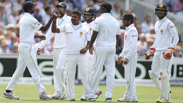 Rangana Herath claimed the wicket of Chris Woakes for 66