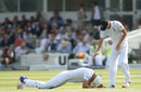 Stuart Broad appeared to hurt himself in the field, England v Sri Lanka, 3rd Investec Test, Lord's, 2nd day, June 10, 2016