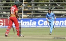 Chamu Chibhabha did not move his feet and lost one of his stumps, Zimbabwe v India, 1st ODI, Harare, June 11, 2016