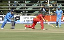 Craig Ervine reaches out for a sweep, Zimbabwe v India, 1st ODI, Harare, June 11, 2016