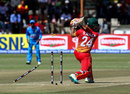 Sikandar Raza inside-edges a drive onto his stumps, Zimbabwe v India, 1st ODI, Harare, June 11, 2016