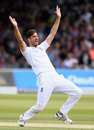 Steven Finn won an lbw decision against Dinesh Chandimal, England v Sri Lanka, 3rd Investec Test, Lord's, 3rd day, June 11, 2016