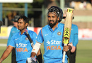 KL Rahul and Ambati Rayudu walk back after India's win, Zimbabwe v India, 1st ODI, Harare, June 11, 2016