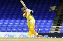 Aaron Finch punches down the ground, Australia v South Africa, 4th match, ODI tri-series, St Kitts, June 11, 2016