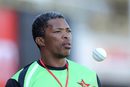 Makhaya Ntini watches the first ODI from the sidelines, Zimbabwe v India, 1st ODI, Harare, June 11, 2016
