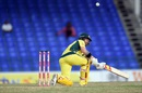 Matthew Wade shapes to paddle sweep, Australia v South Africa, 4th match, ODI tri-series, St Kitts