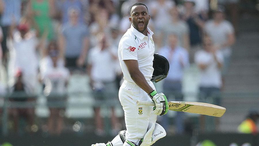 Temba Bavuma celebrates his century