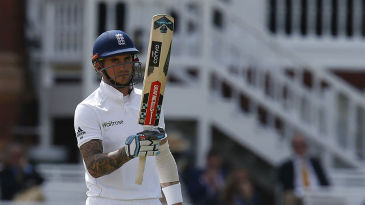 Alex Hales brought up his third fifty of the series