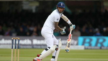 Alex Hales rode his luck after resuming his innings on the fourth day