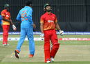 A disappointed Sikandar Raza walks back, Zimbabwe v India, 2nd ODI, Harare, June 13, 2016