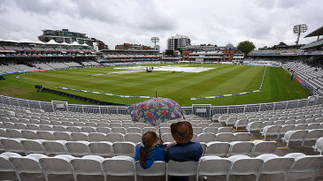 Persistent rain caused the morning session at Lord's to be washed out