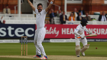 James Anderson struck the opening blow by trapping Kaushal Silva lbw