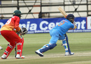 Manish Pandey reaches out for one to hit the winning runs, Zimbabwe v India, 2nd ODI, Harare, June 13, 2016