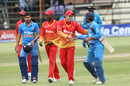 Ambati Rayudu is congratulated after India's win, Zimbabwe v India, 2nd ODI, Harare, June 13, 2016