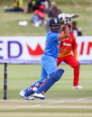 Karun Nair steers the ball to the off side, Zimbabwe v India, 2nd ODI, Harare, June 13, 2016