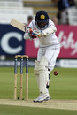 Kaushal Silva padded up to a big inswinger from James Anderson, England v Sri Lanka, 3rd Investec Test, Lord's, 5th day, June 13, 2016
