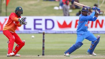 Ambati Rayudu cuts the ball square
