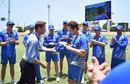 Damien Martyn handed Travis Head his ODI cap, West Indies v Australia, 5th match, ODI tri-series, Basseterre, June 13, 2016