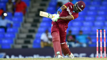 Darren Bravo launches one for six