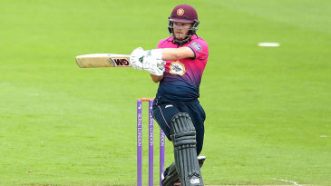 Ben Duckett swings through the leg side