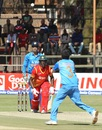 Yuzvendra Chahal gets ready to take a catch to dismiss Vusi Sibanda, Zimbabwe v India, Harare, June 15, 2016