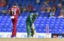 Jerome Taylor knocks out Quinton de Kock's off stump, West Indies v South Africa, 6th match, ODI tri-series, St Kitts