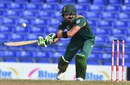 Faf du Plessis attempts a scoop, West Indies v South Africa, 6th match, ODI tri-series, St Kitts