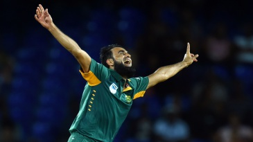 Imran Tahir sets off on a celebratory run