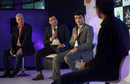 Dean Jones, VVS Laxman and Sourav Ganguly offer their views on pink-ball cricket at a panel discussion, Kolkata, June 16, 2016