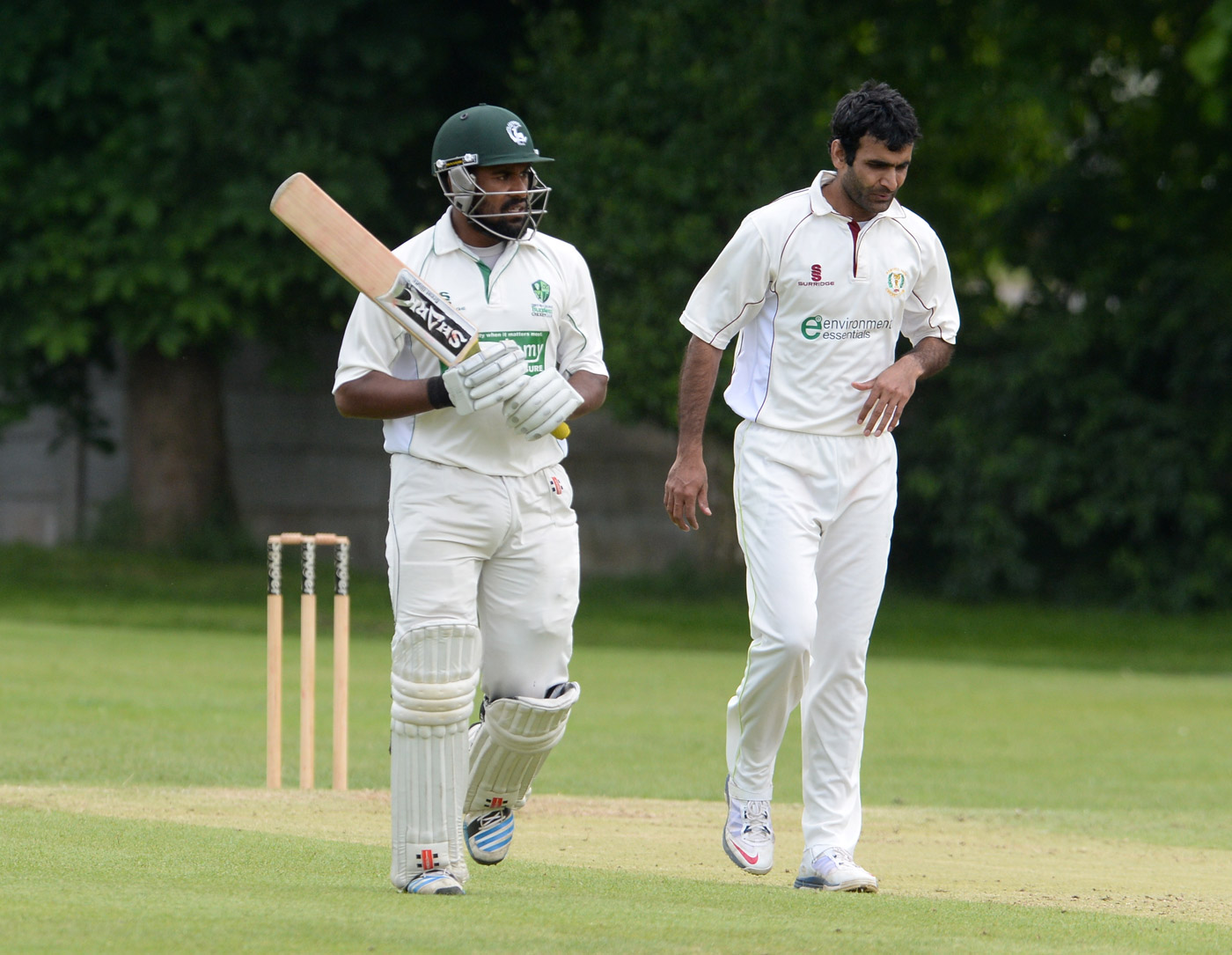 Porthill Park's Rao Iftikhar Anjum (right) preferred all play and no work
