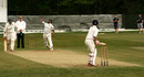 Yasir Ali bowls for Elworth CC in the North Staffs and South Cheshire Cricket League