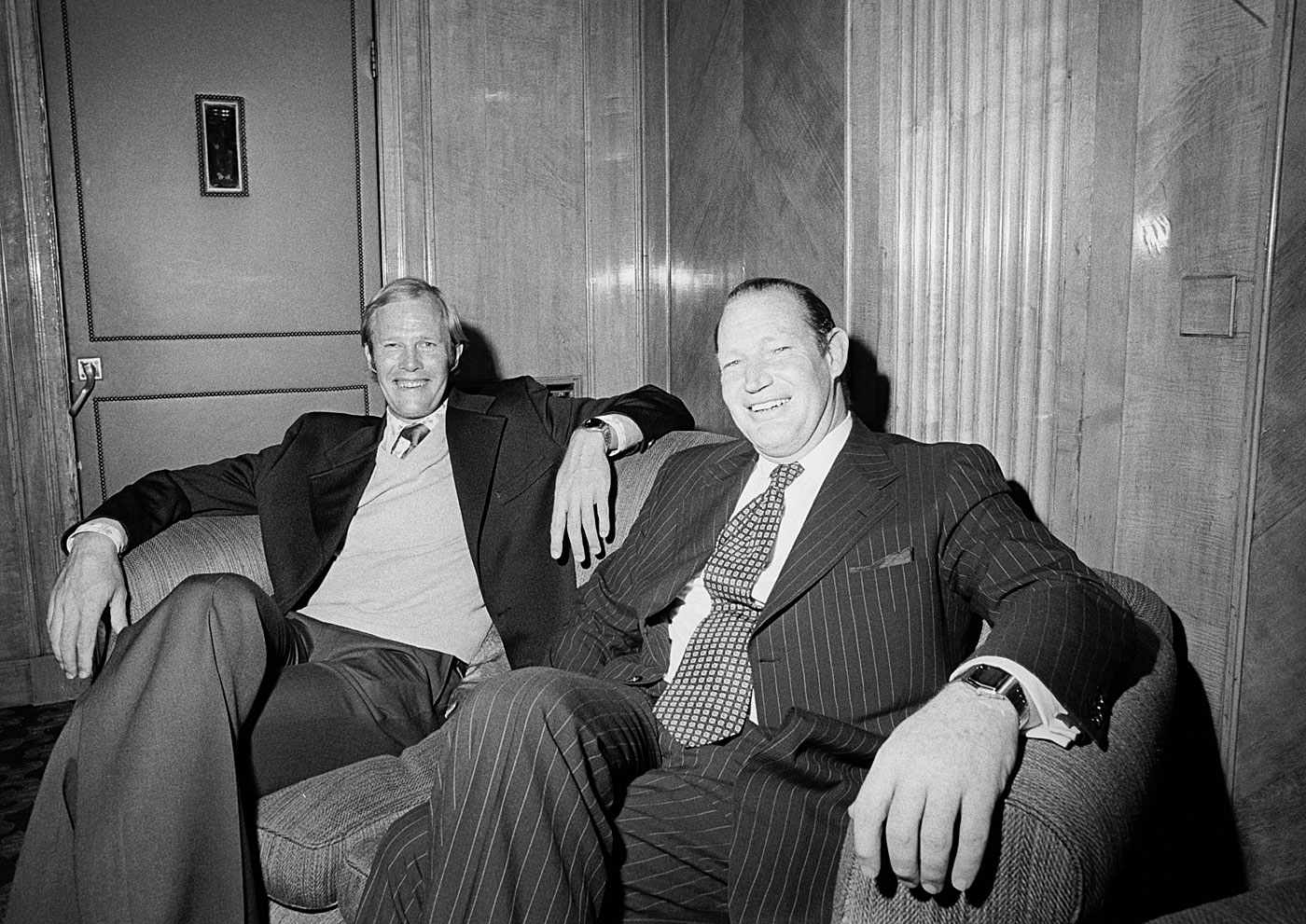 And so the revolution begins: Greig and Kerry Packer at the Dorchester in London in 1977