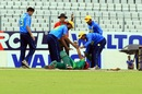 Suhrawadi Shuvo is attended to after being struck by a bouncer, Victoria Sporting Club v Abahani Limited, DPL 2016, Mirpur, June 18, 2016