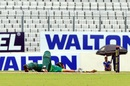 Suhrawadi Shuvo falls at the crease after being struck by a bouncer, Victoria Sporting Club v Abahani Limited, DPL 2016, Mirpur, June 18, 2016