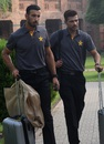 Shan Masood and Mohammad Amir leave the NCA ahead of Pakistan's departure for England, Lahore, June 18, 2016