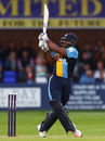 Chesney Hughes bats for Derbyshire, Derbyshire v Warwickshire, NatWest Blast, Derby, June 17, 2016