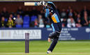 Billy Godleman tries some invention, Derbyshire v Warwickshire, NatWest Blast, Derby, June 17, 2016