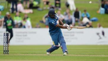 Seekkuge Prasanna swings to the leg side