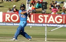 Kedar Jadhav was bowled for 19, Zimbabwe v India, 1st T20I, Harare, June 18, 2016