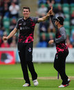 Jamie Overton was among the wickets, Somerset v Hampshire, NatWest T20 Blast, South Group, June 19, 2016